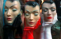 Window store fashion dummies Stock Photo