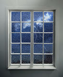 Window and Storm Behind royalty free stock photos