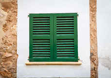 Window in the Streets of Fornalutx Mallorca Stock Photography