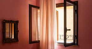 Window with sunlight and Royalty Free Stock Photography