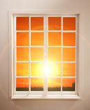 Window and The Sunset Royalty Free Stock Photos