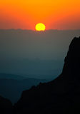 The Window at sunset in the Chisos Mountains Stock Photography