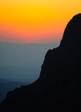 The Window at sunset in the Chisos Mountains Royalty Free Stock Photos