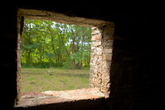 Window Of Sunyaragi Cave Cirebon Stock Photo