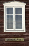 Window of a Swedish Hembygdsgaard, a historic farm building Royalty Free Stock Images