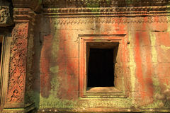 The window of Ta Prohm temple. In Angkor Wat, near Siem Reap, Cambodia, South East Asia Stock Photos