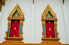 The window of temple at samutprakarn province Stock Images