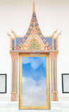 Window in temple. Window thai temple, in Bangkok Thailand stock image