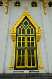 Window temple. Thailand,Wat Sothon Wararam Worawihan Royalty Free Stock Images