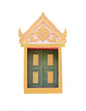 Window of temple traditional Thailand isolated on white backgrou Royalty Free Stock Image