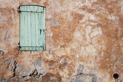 Window and Textured Wall Stock Image