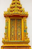 Window in thai temple Royalty Free Stock Photos