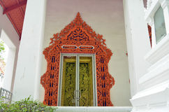 Window of a thai temple in bangkok Royalty Free Stock Image