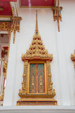 Window thai temple. In Phuket Thailand stock photography