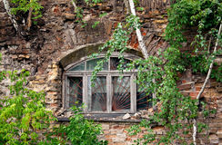 Window in the thrown house Stock Photos