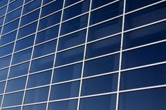 Window tile. Front side of blue glass show window Stock Images
