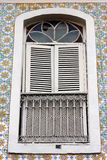Window and Tile Wall Sao Luis do Maranhao Royalty Free Stock Image