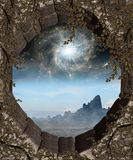 Window to Another World. A premade background for artists or designers to use in their projects Royalty Free Stock Photos