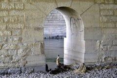 Window to bridge Stock Images