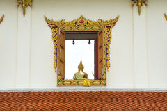 Window to the Buddha's teaching. At siam Royalty Free Stock Photo