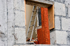 Window to construction site Stock Photography