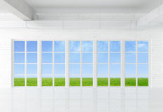 Window to field Royalty Free Stock Photo