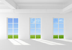 Window to field Royalty Free Stock Images