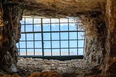 Window to freedom from a jail Royalty Free Stock Images