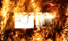 Window in flames Royalty Free Stock Photos