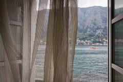 Window to Kotor bay. Stock Photography