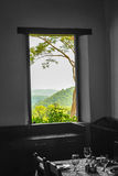 Window to Las terrazas, Cuba. Amazing view to the fields, in las Terrazas stock images