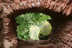 Window to nature. Castle window to the nature Royalty Free Stock Photography