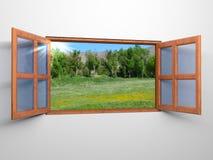 Window to nature Stock Photo