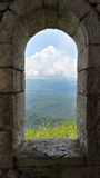 Window to Nature. The view from the tower on Mount Akhun, Sochi Royalty Free Stock Image