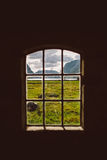 Window to Norwegian fjords Stock Photo