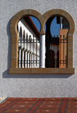 Window to the patio in Spanish style. Israel Royalty Free Stock Images