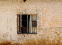 Window to poverty Stock Image
