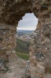 Window to San Esteban de Gormaz Royalty Free Stock Photos