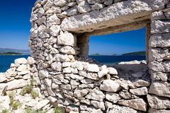 Window to the sea Stock Photo
