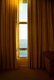 Window to the sea. View to the Ocean, from Puerto Montt, Chile. Royalty Free Stock Photography