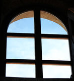 Window to the sky. Window to the blue sky, heaven, quiet Royalty Free Stock Photos