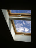 Window to sky royalty free stock images