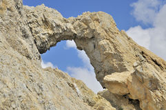 Kissing rocks against blue sky Royalty Free Stock Photography