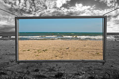Window to summer sea Royalty Free Stock Photo