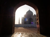 Window to Taj Mahal. The indian window to the great white marble building, Taj Mahal Royalty Free Stock Photo