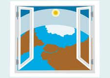 Window to the world Stock Photo