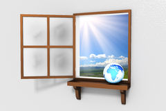 Window to the World Royalty Free Stock Photography