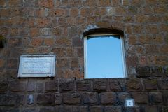 Window and tombstone stock images
