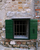 Window in the Town of Grado Stock Photos