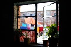 window in township, Capetown Royalty Free Stock Photo
